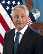 United States Secretary of Defense Chuck Hagel's official portrait.