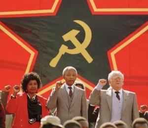 ANC MANDELA COUPLE JOE SLOVO COMMUNIST