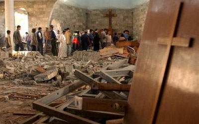 Terrorist attacks by Muslims on Christian churches