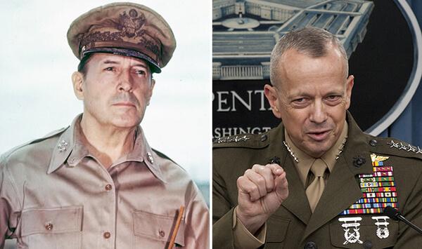 Gen MacArthur and General Allen