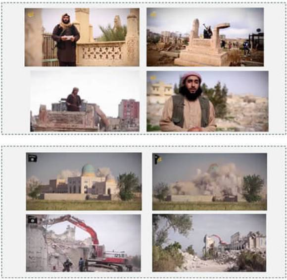 Blowing up mosque and desecrating graves