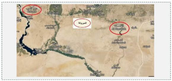 1 The area between the Kurdish cities of Al-Hasakah and Kobani