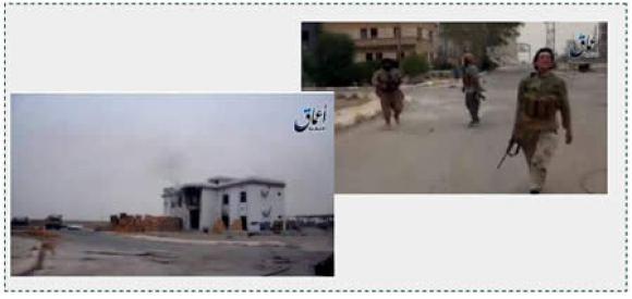 3 Building on fire in Ramadi
