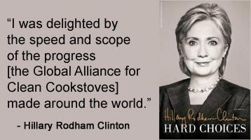 Global Alliance for Clean Cook Stoves Hillary Rodham Clinton