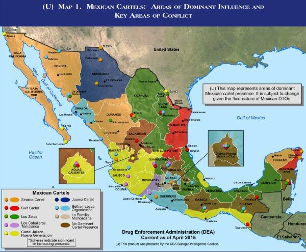 MEXICAN TRANSNATIONAL GROUPS MAP