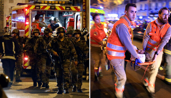 Scenes from Friday's grisly terror attacks in Paris.