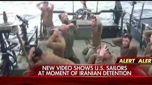 Video of US sailors under Iranian detention
