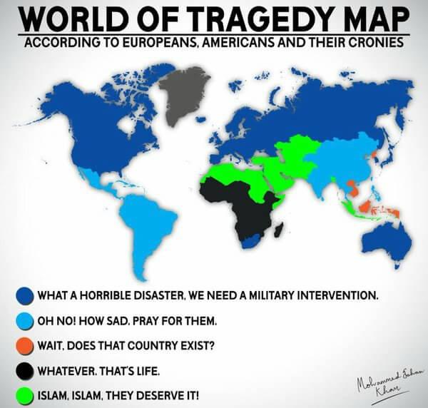 World Tragedy Map