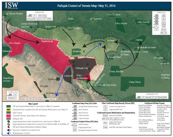 Fallujah Map 30 MAY 2016 PHASE 3