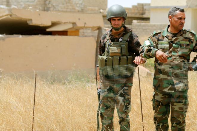 peshmerga soldiers Sinjar