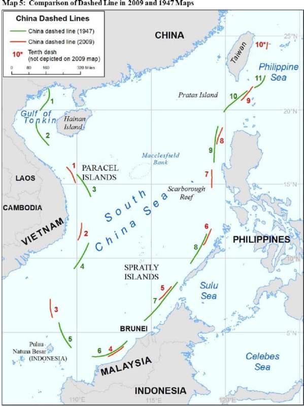 SOUTH CHINA SEAS MAP