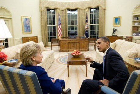 barack-obama-and-hillary-clinton-in-the-white-house-public-domain-460x309