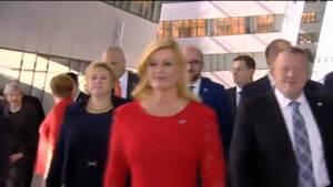 Croatia's President Kolinda Grabar-Kitarovic NATO