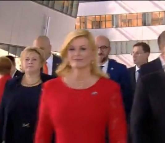 Croatia's President Kolinda Grabar-Kitarovic