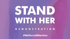 Press notification: Demonstration outside Parliament against forced abortion