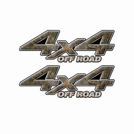 4X4 OFF ROAD Forest Camo Bedside Truck Decals 2 Pack (ka) 1