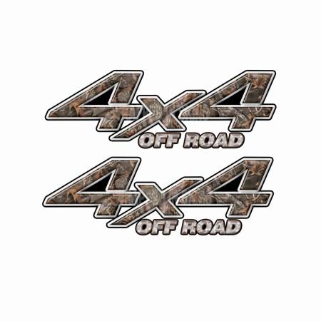 4X4 OFF ROAD Woodland Camo Bedside Truck Decals 2 pack (ka) 1