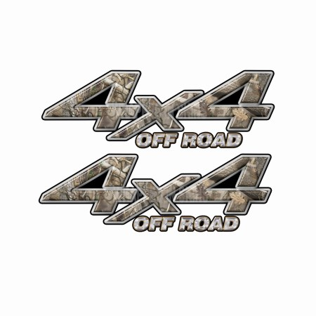 4X4 OFF ROAD Obliteration Camo Bedside Truck Decals 2 pack (ka) 1