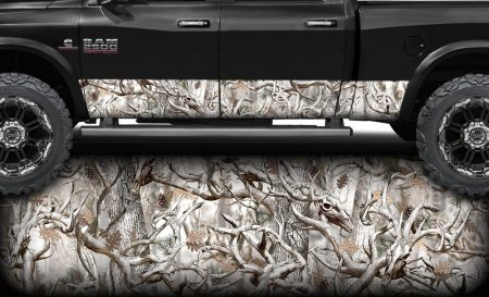 Buck Snow Obliteration Camo Rocker Panel Wrap