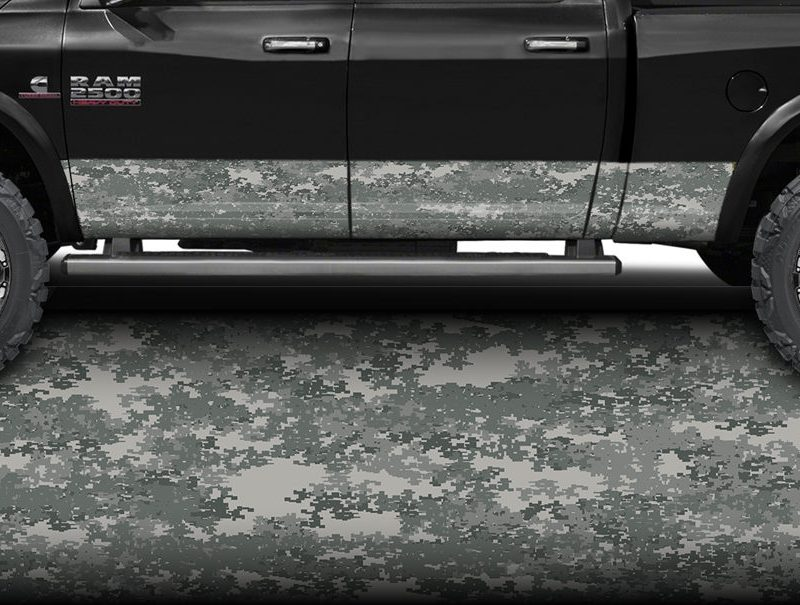 Military Digital Camo Rocker Panel Wrap