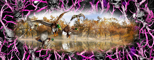 Mallard duck grassland camouflage hunting vinyl graphic decal size options
