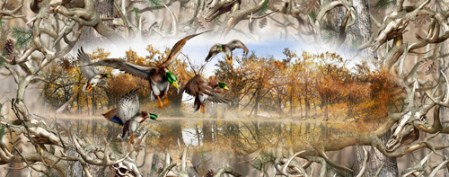 Mallards Obliteration Buck Camo Tailgate Wrap