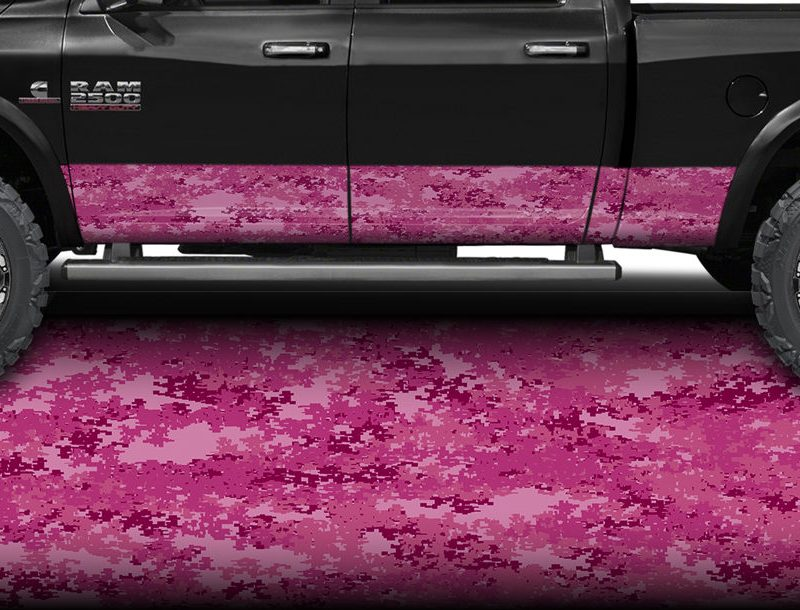 PINK DIGITAL Camo Rocker Panel Wrap