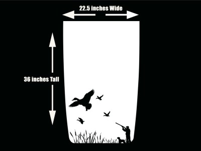 Duck Hunting 2 Jeep Hood Blackout Die Cut Decal White
