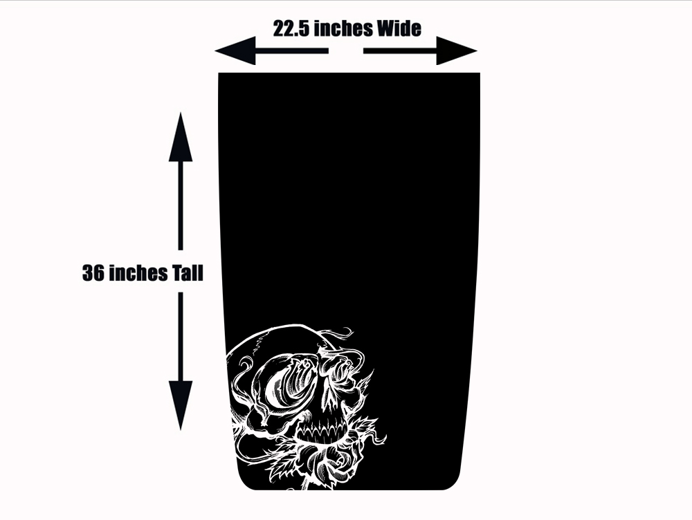 Skull and Roses Jeep Blackout Hood Die Cut Decal