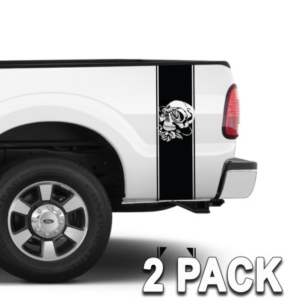 Truck Band Skull Roses Graphics