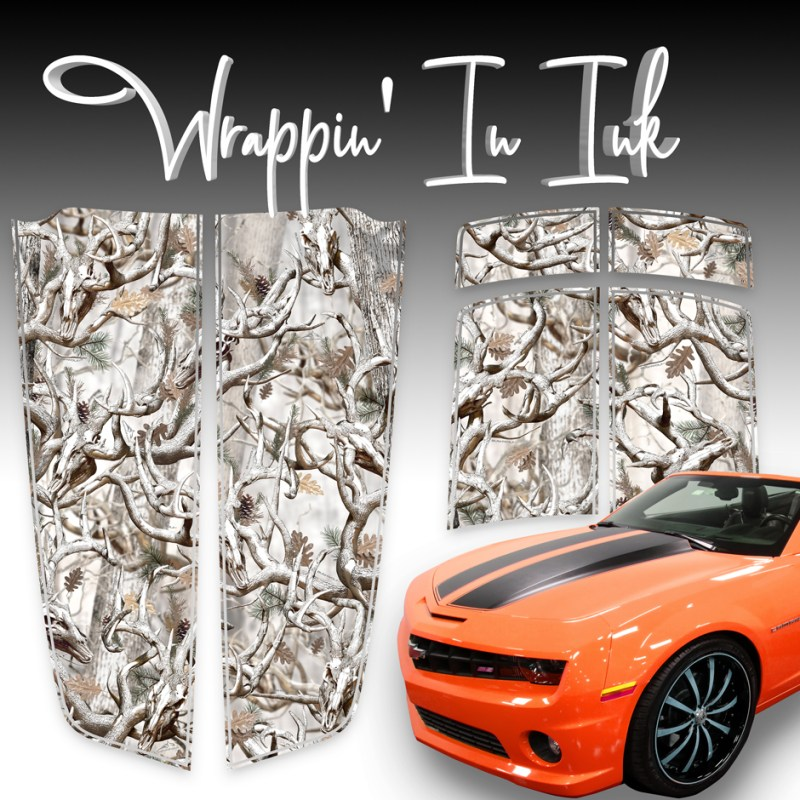 Snow Buck Skull Camo Racing Stripes. 2010-2015 Camaro Stripes.