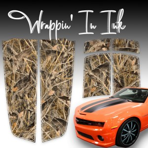 Camaro Stripes Camouflage Tall Grass Duck Chevy Camaro 2010-2015 Compatible