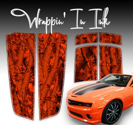 Camaro Stripes Red Forest Inferno Camo for 2010-2011-2012-2013-2014-2015 Chevy Camaro