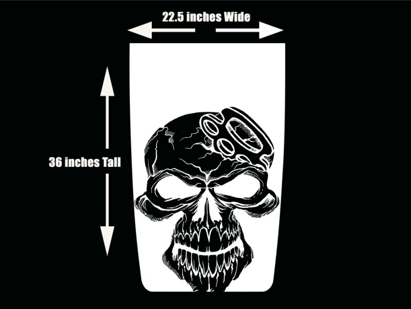 Jeep Wrangler Hood Wrap Skull Brass Knuckles