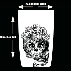 Die Cut Hood Decal Day of the Dead Día de los Muertos Jeep Wrangler Hood Decal