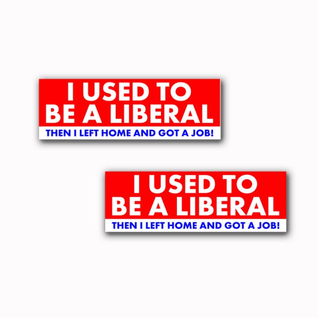 I Used to Be A Liberal Stickers