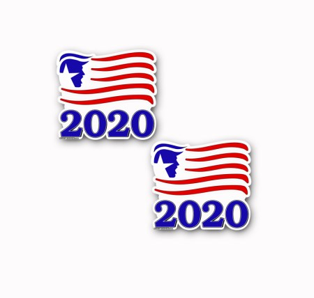 TRUMP-2020 Flag Decal Sticker