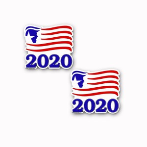 TRUMP-2020 Flag Decal Sticker