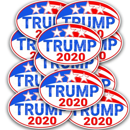 TRUMP STICKER 2020- PRESIDENTIAL DECAL 10-pack
