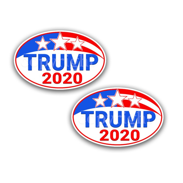 TRUMP STICKER 2020- PRESIDENTIAL DECAL 2-pack