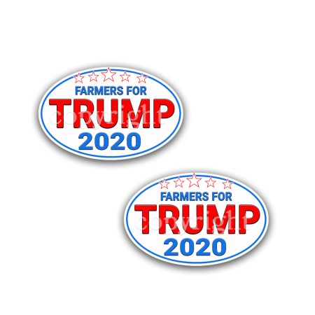 Farmers For Trump 2020 President Decal Bumper-Sticker WT-2