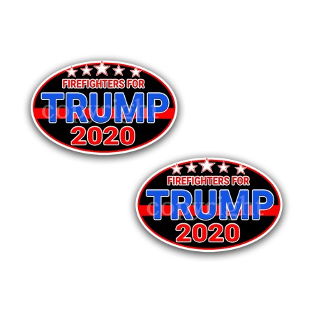 Police For TRUMP STICKER 2020- PRESIDENTIAL DECAL 2-pack