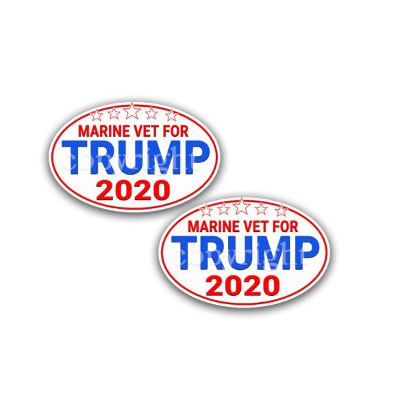 TRUMP 2024 Bumper Stickers Flag 2 Pack 5