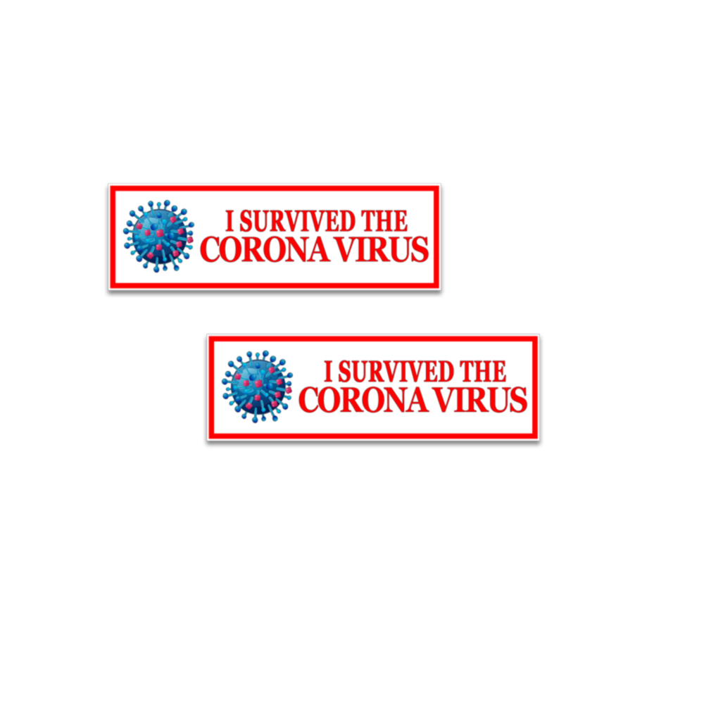 I Survived the Corona virus stickers
