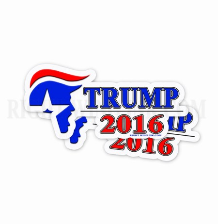 Yelling Trump 2016  Bumper Sticker 2 Pack 1