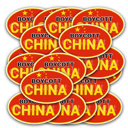 Boycott China Stickers 20 Decals