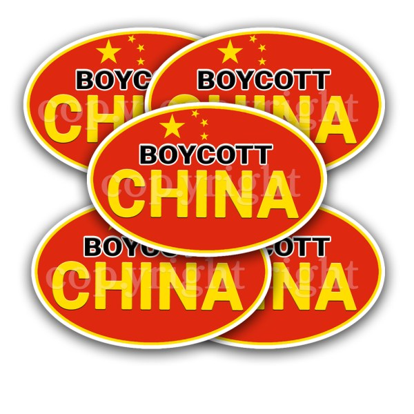 Boycott China Stickers 5 Decals