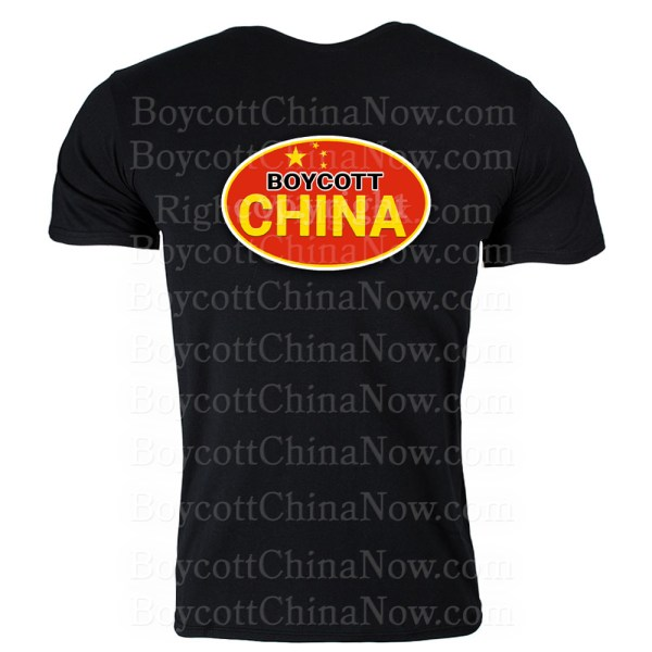 Boycott China Shirt Black