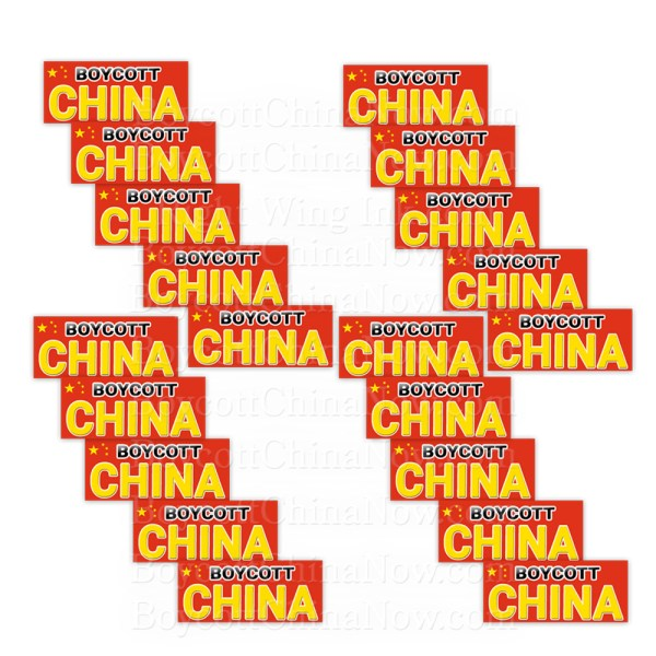 Boycott China Stickers 20