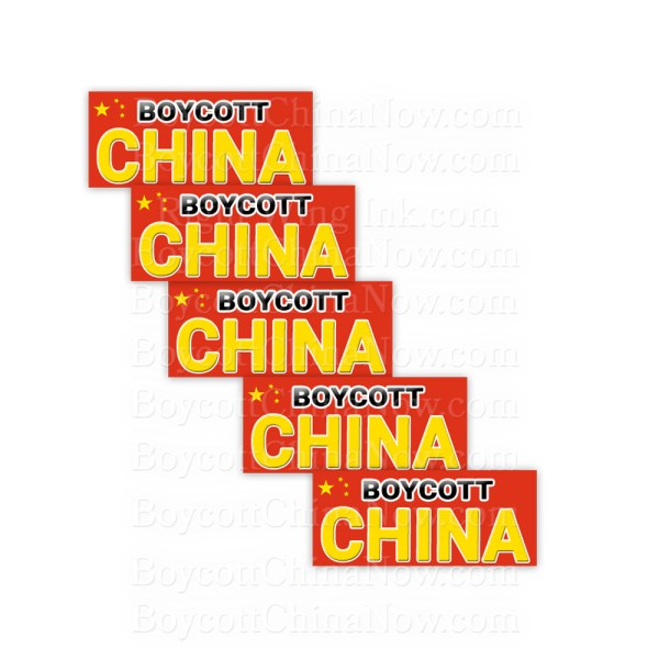 Boycott China Stickers 5